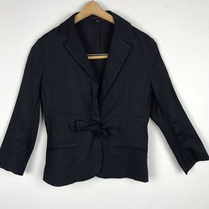 Theory Blazer With Tie Front Detail Size 4